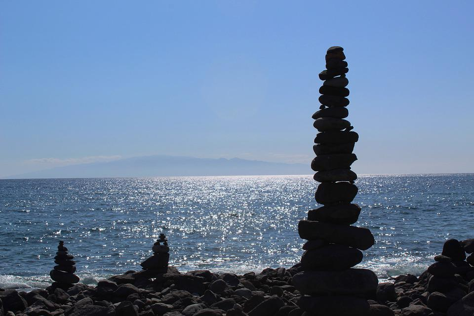 Blau, Beruhigend, Esoterisch, Steine, Sonne, Meer