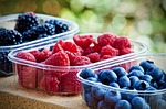 soft fruits, blueberries, raspberries