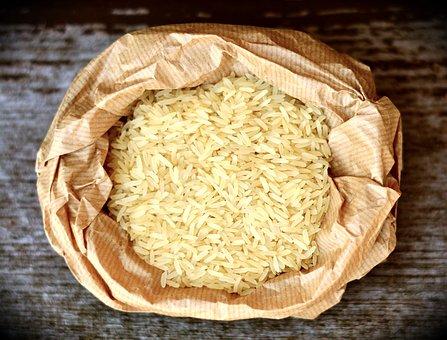 米, 玄米, 食品, 食べる, 栄養, 粒, 紙袋, 包装, 調理する