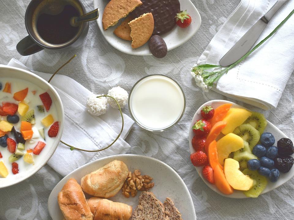 Prima Colazione, Cibo, Flatlay, Lay Piatta, Latte
