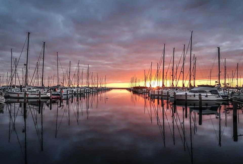 Alter Strom, Ostsee, Sonnenuntergang