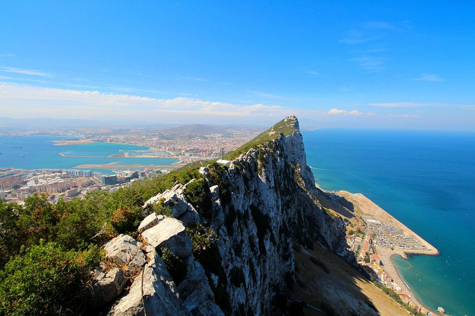Gibraltar, English, Rock, Coast, Mediterranean