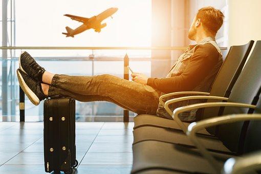 空港, 飛行機, 航空機, フライ, フライト, 空, 平面, 旅行, 休日
