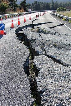 Road, Earthquake, Damage, Crack, Repairs