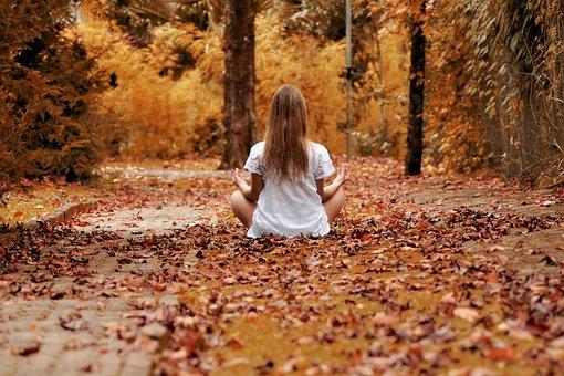 Mädchen, Wald, Zen, Meditation