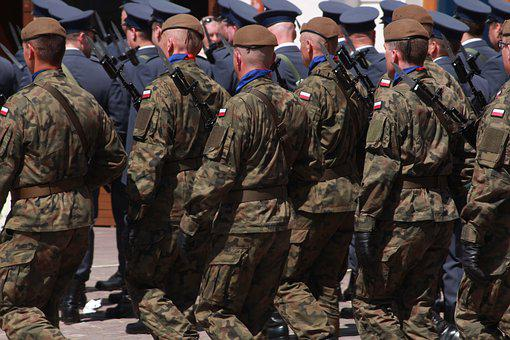 兵士, 軍, パレード, 防衛, 歩兵, 軍隊, ポーランド陸軍