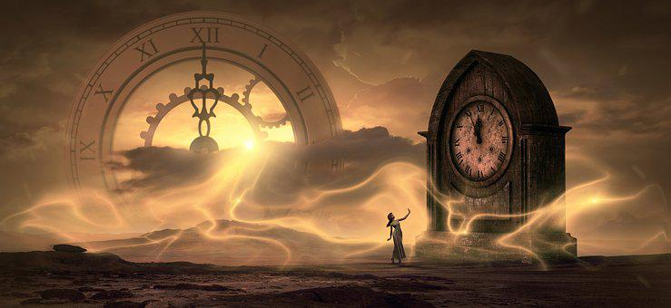 Fantasy, Clock, Time, Light, Magic