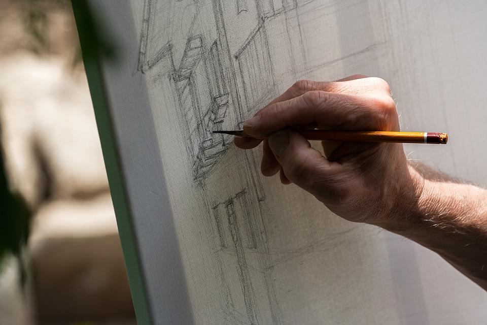 Rysunek, Płótno, Ołówek, Artysta, Sztuka, Kreatywność