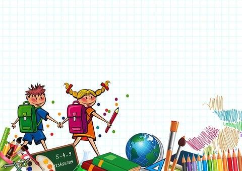 Studenten, Kinder, Zurück In Der Schule
