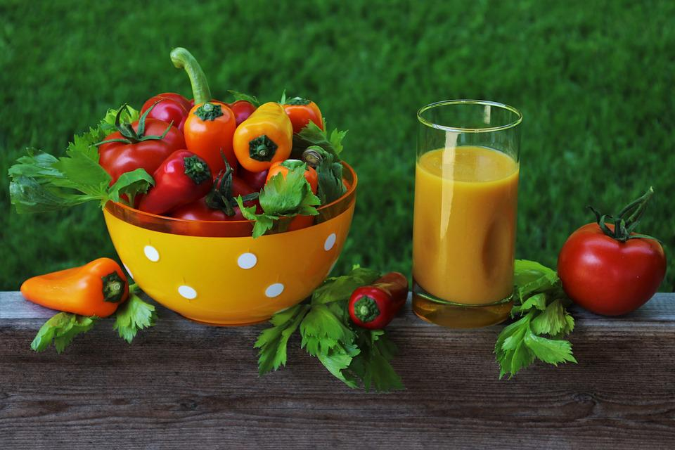 Verdure, Succo, Bio, Organico, Nutrizione, Paprika