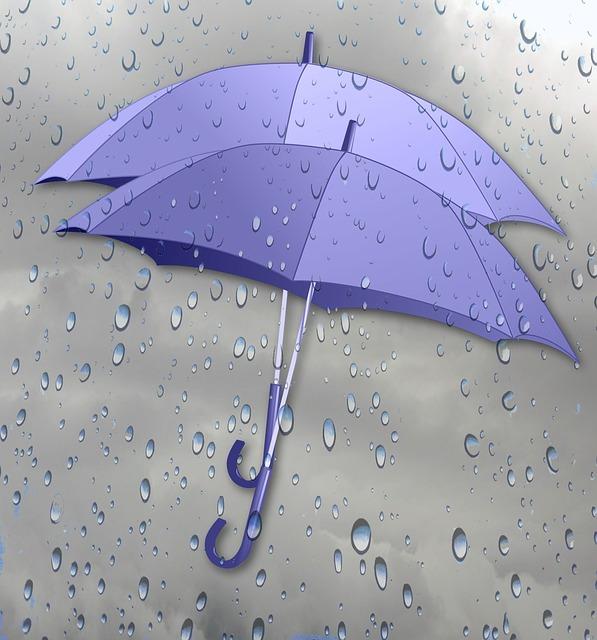 Открытка дождливая погода, доченьки