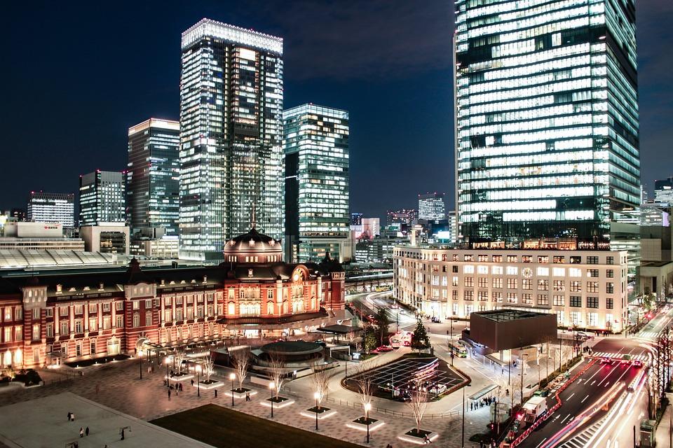 日本, 東京介, を介して, 東京駅, 駅, トラフィック, シティ, 東京, 建物, 鉄道, 旅, 都市