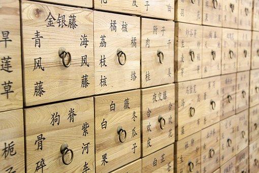 漢方薬, 引き出し, 繁体字中国語