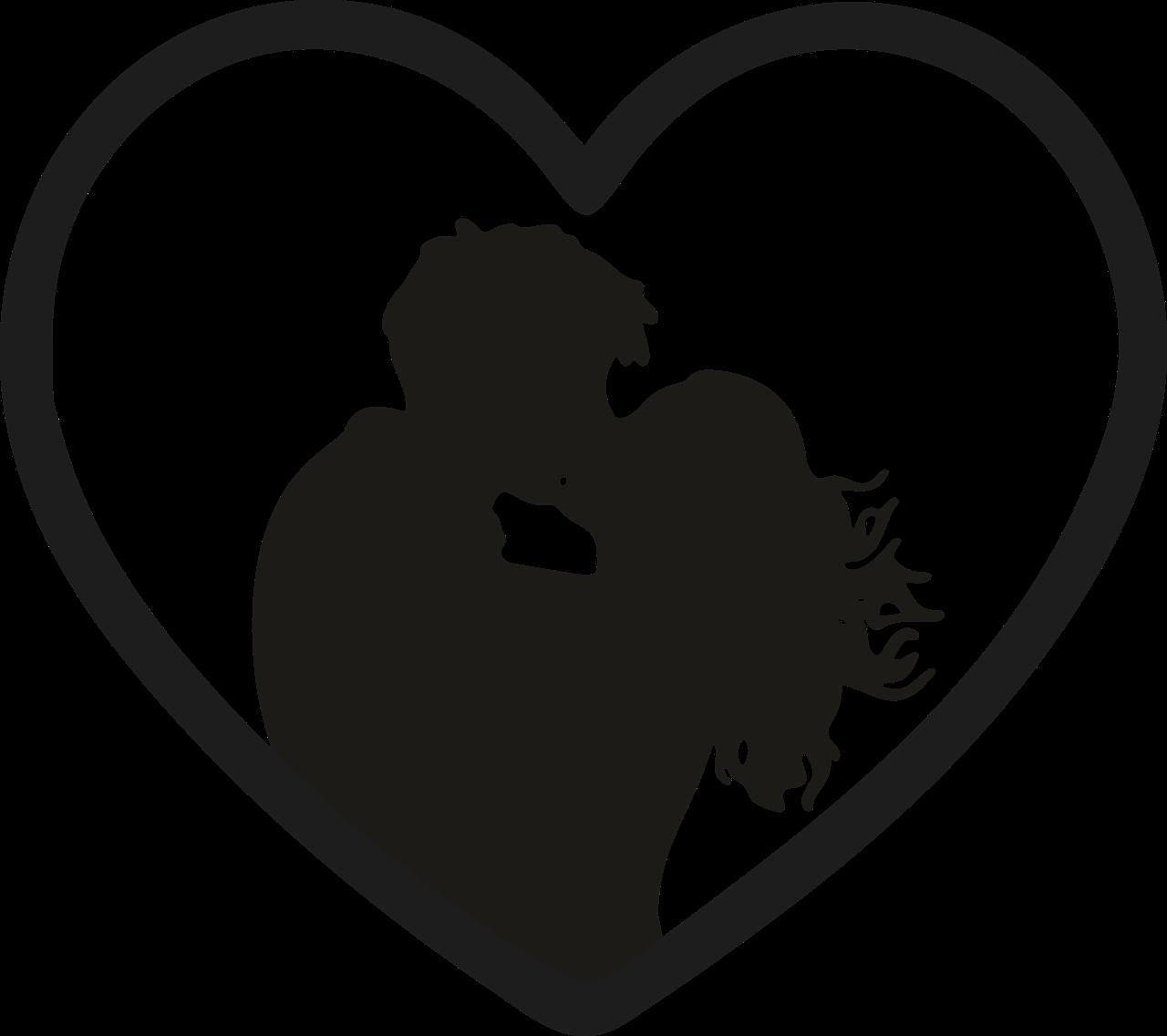 Картинки сердца целуются