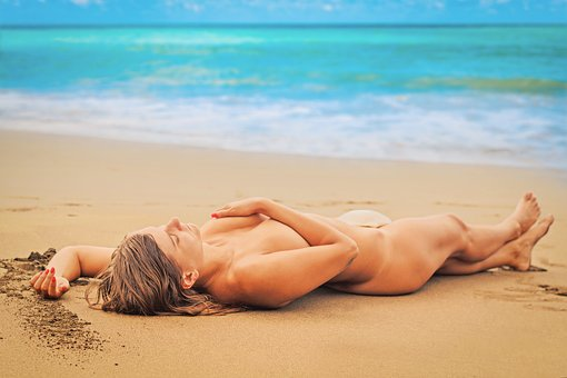 Woman, Beach, Sexy, Summer, Holiday