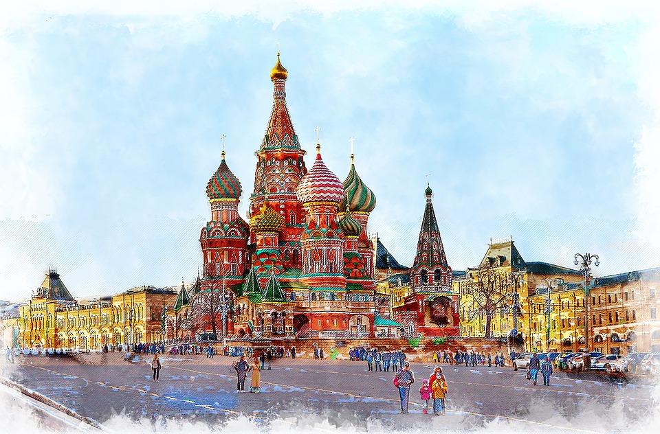 모스크바, 성 바 실 성당, 처녀의 표지 Presvjatoj의 성당, 돔, 러시아, 종교, 기독교