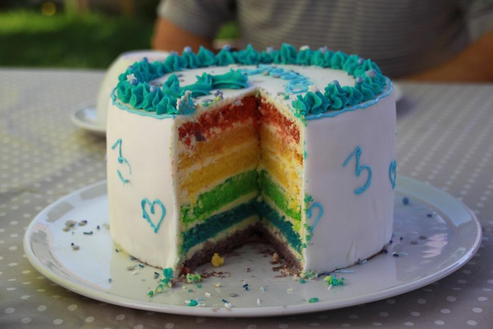 Kuchen Geburtstag Regenbogen Kostenloses Foto Auf Pixabay