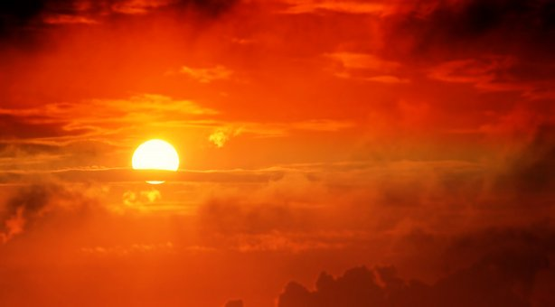 Sunrise, Sun, Nuages, Ciel, Nature