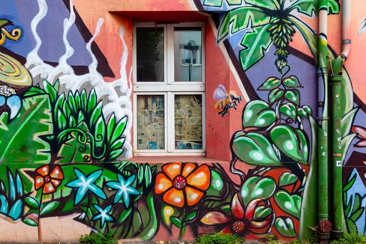 涂鸦,杜塞尔多夫,松树街,欢迎,房子,丰富多彩,绘,艺术,架构,建设,正面,墙,画,艺术形式,壁画,丢失的地方图片