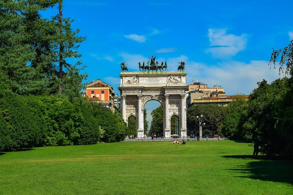 Parco Sempione, Arco Della Pace, Park, Green, Summer