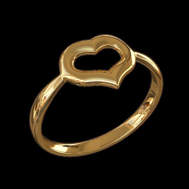 Картинки кольца с сердечками