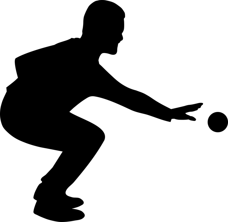 Pétanque, Boules, Jouer, Sport, Jeu, Silhouette