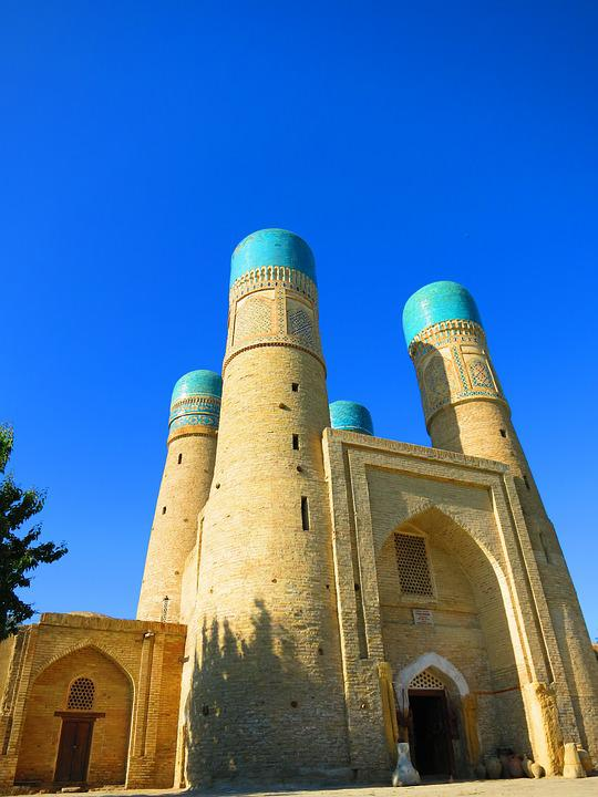 乌兹别克斯坦, 清真寺, 蓝色的天空