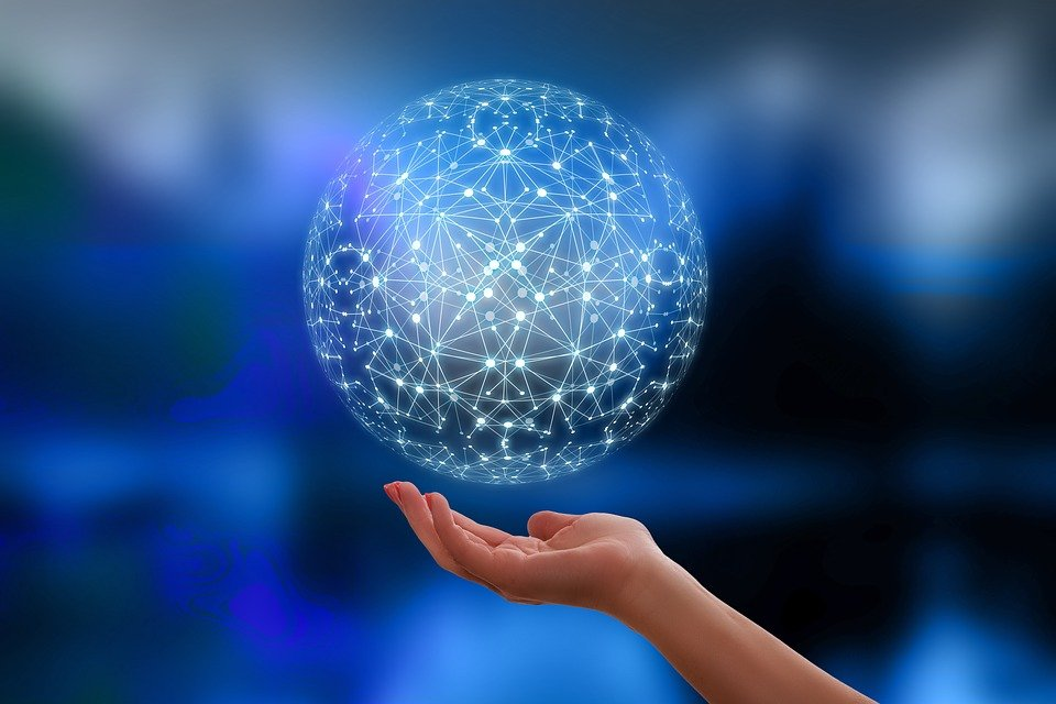 ネットワーク, 地球, ブロック鎖, グローブ, デジタル化, 通信, 世界中, 手, 停止, セキュリティ