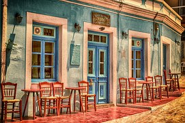 Cafe, Architecture, Building