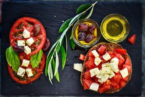 Dakos, Pomodoro, Olive, Olio D'Oliva