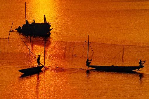バングラデシュ, 川, ボート