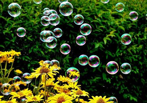 Seifenblasen, Bunt, Sommer, Schweben