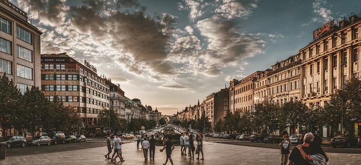 Prague, Wenceslas Square, Architecture