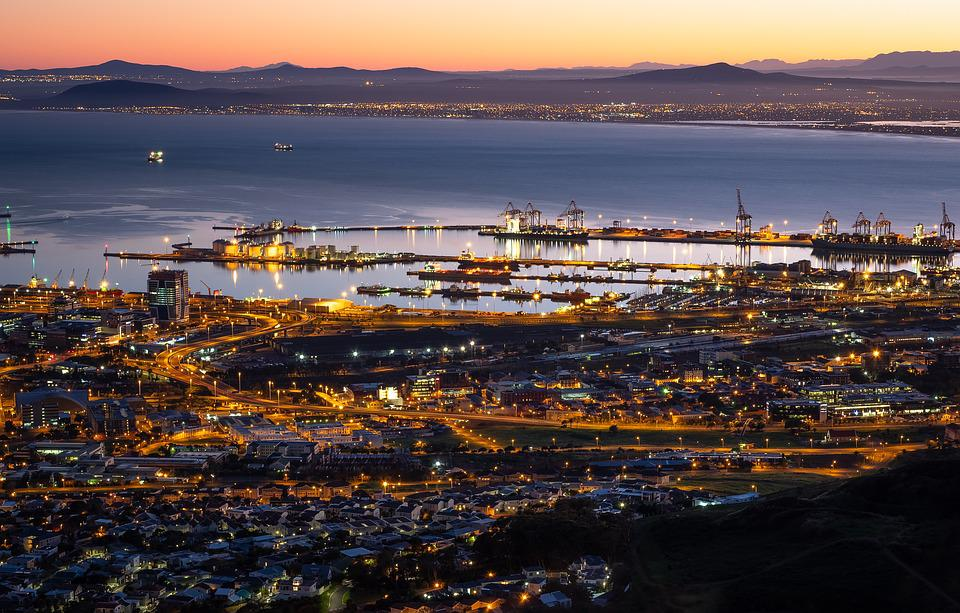 Table Bay Harbour, Cape Town, Dawn, Sunrise, Night