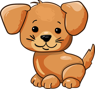 Dog, Puppy, Cute, Cartoon, Character