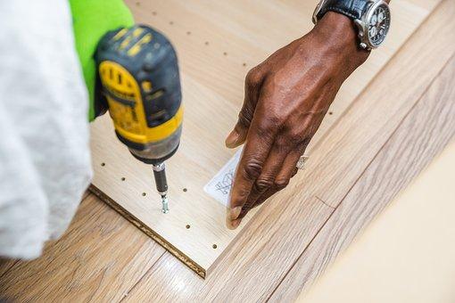 便利屋, 家具組立, Ikeaの家具組立, ドリル, 電動ドリル, アセンブリ