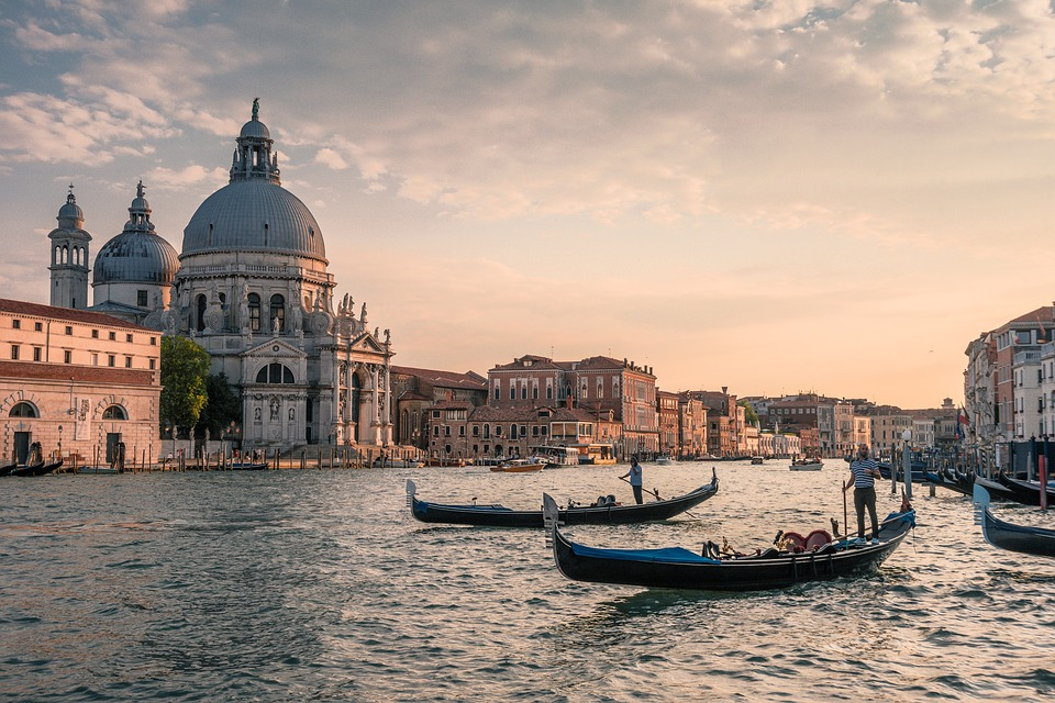 Channel, Venice, Gondolas, Italy, Water, Building, City