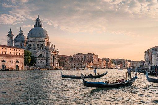 Canale, Venezia, Gondole, Italia, Acqua