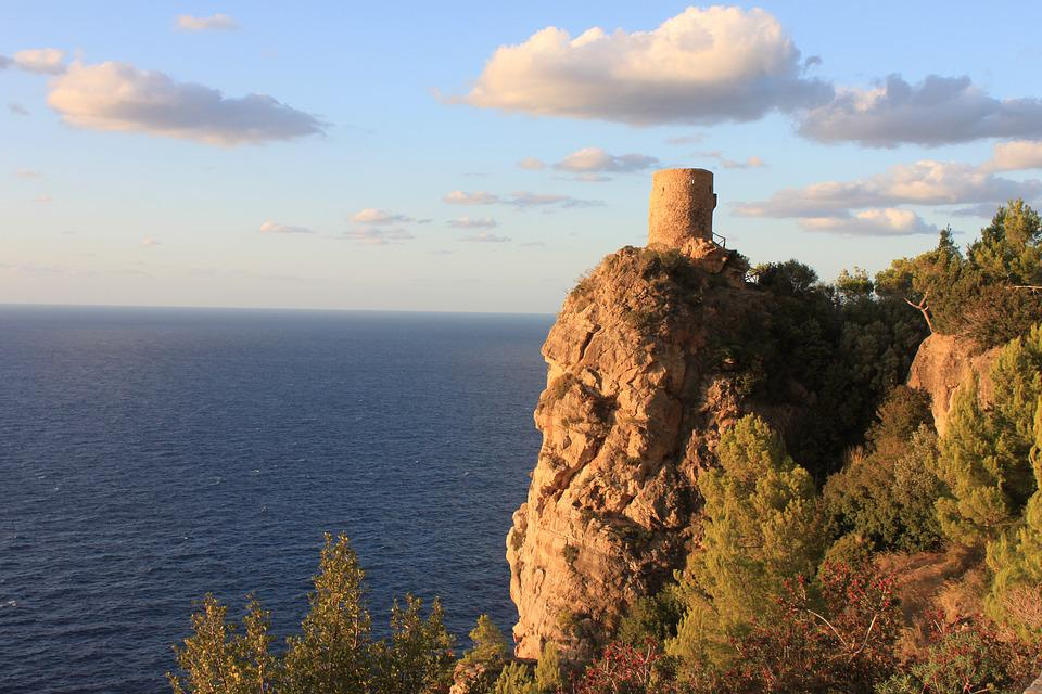 Watch tower in Tramuntana Mountains
