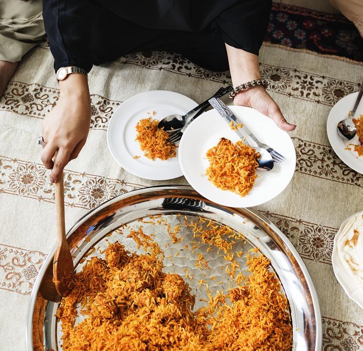 Арабский, Бирьяни, Празднование, Куриные Biryani