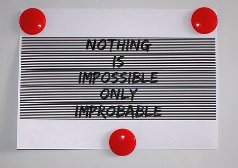 A patch with the words Nothing is impossible... for 301 inspirational and motivational quotes