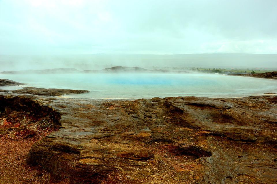 Hot springs of Iceland