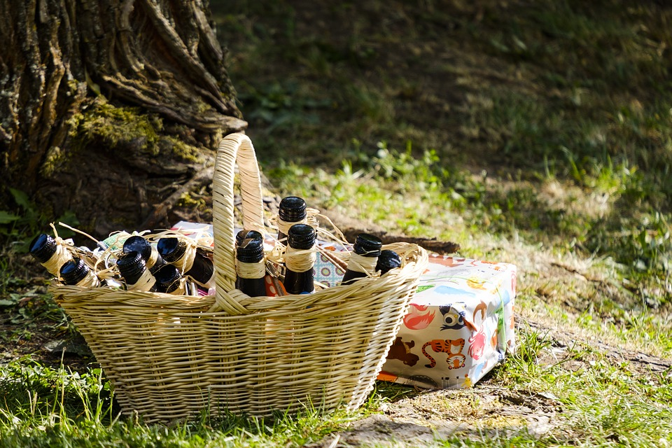 Bottles, Beverages, Champagne, Alcohol, Gift, Basket
