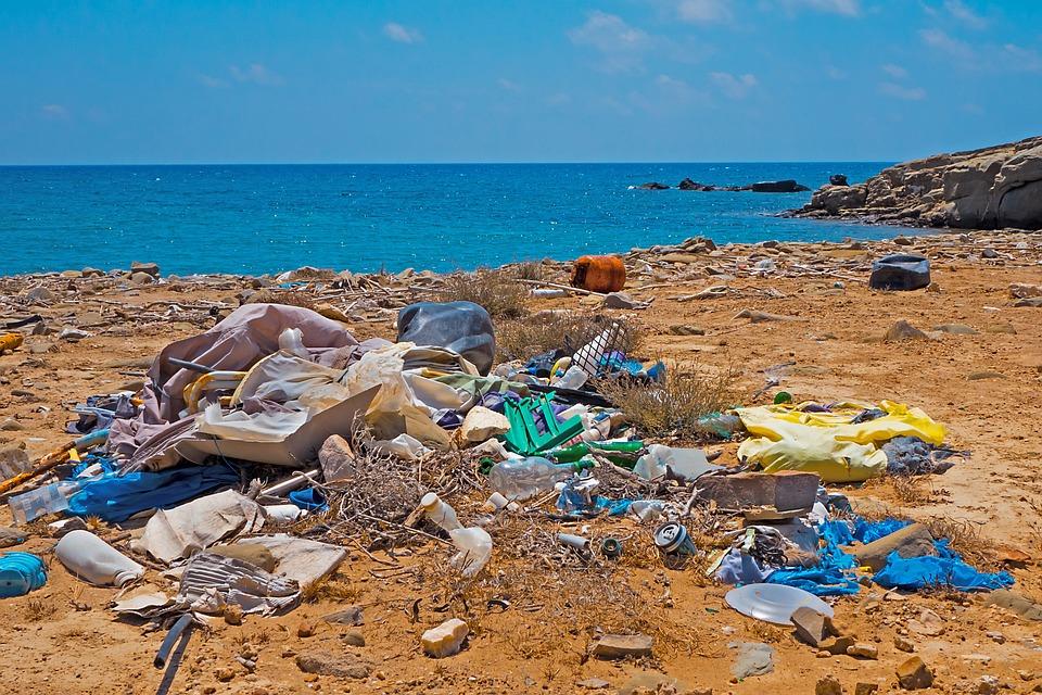 Müll, Plastikmüll, Strand, Umweltsünde