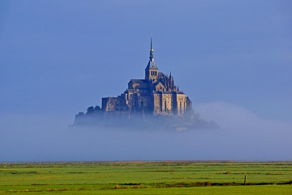 Mont-Saint-Michel, Île, Rocheux, Forteresse, France