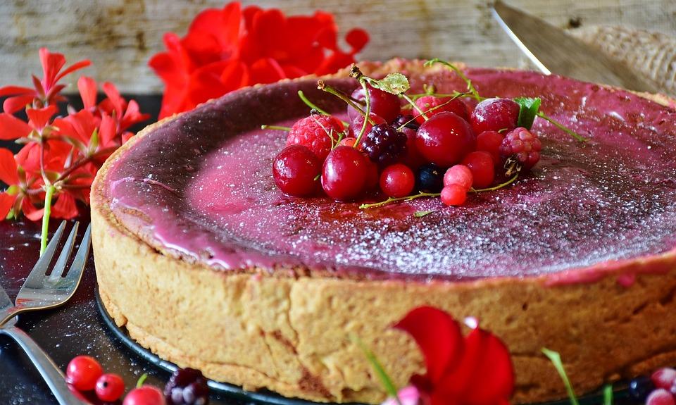 Torta, Torta Di Formaggio, Frutti Di Bosco, Infornare