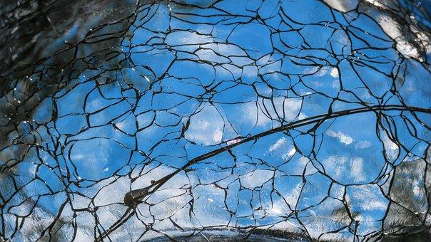 Glass, Broken, Mirror, Abstract