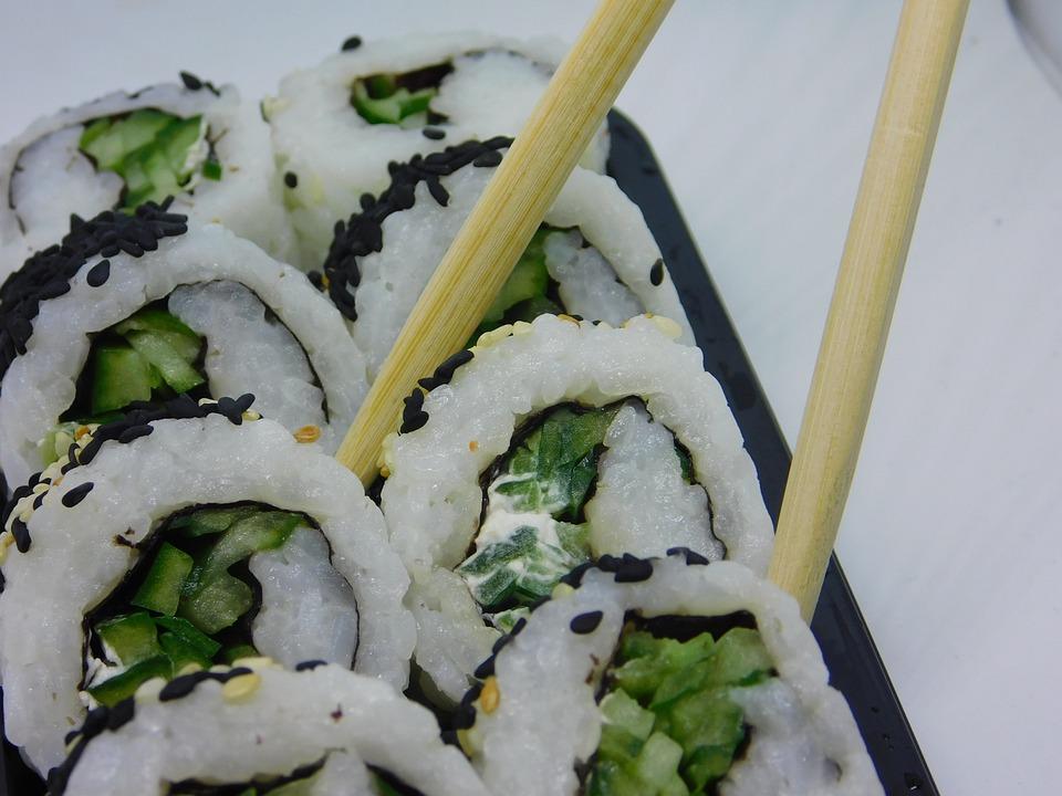 Sushi, Vegetariano, Verdure, Riso, Cibo, Nutrizione