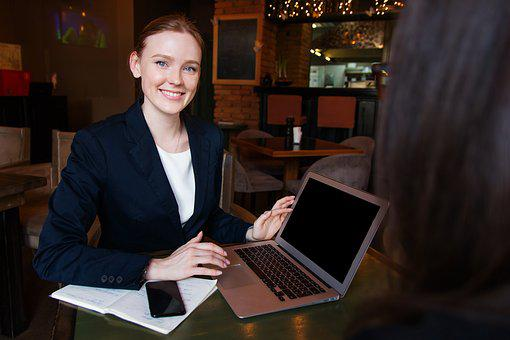 Business, Lady, Woman, Girl, Computer