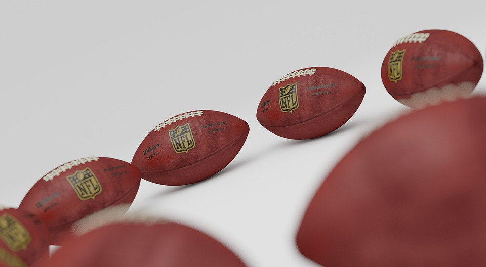 NFL branded footballs
